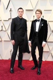 Nicholas Hoult in Dior & Joe Alwyn in Tom Ford